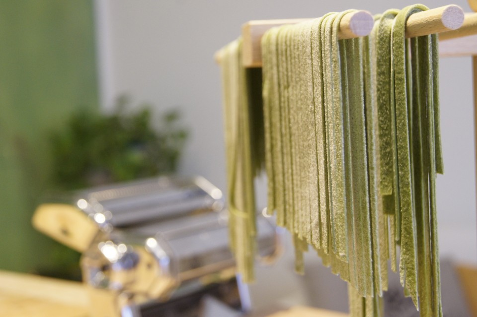 Fresh Pasta with Spinach | Cooking Classes in Padua Italy